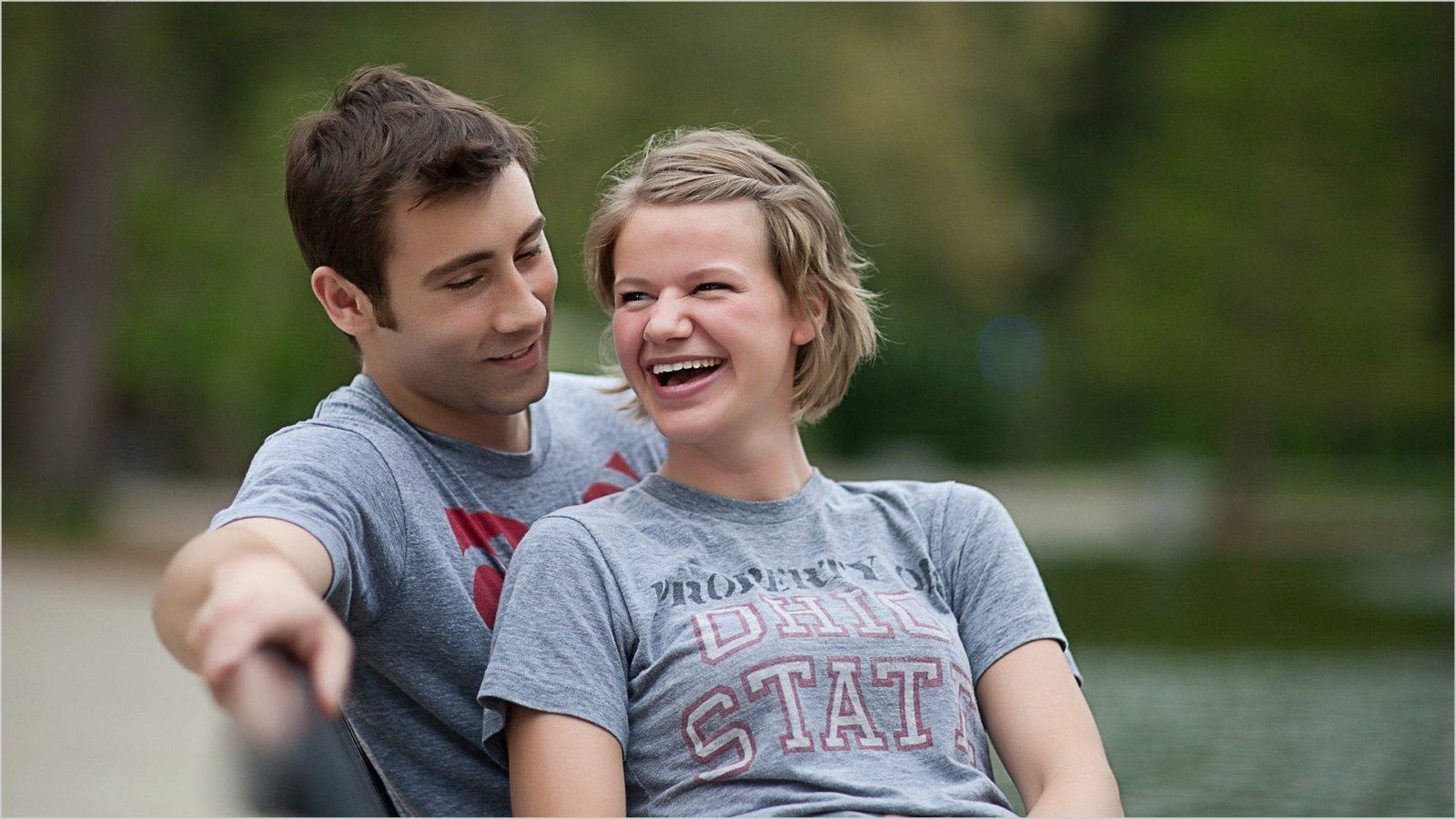 Ohio State University Mirror Lake engagement