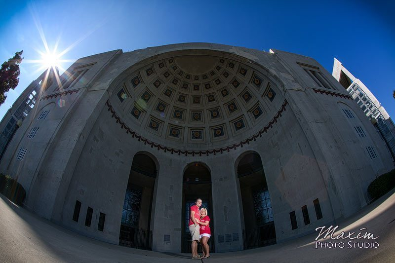 Ohio State University Horseshoe Columbus Engagement