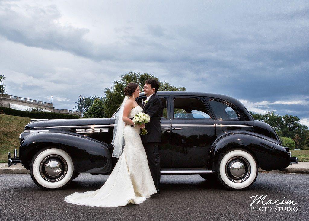 Ault Park Cincinnati Wedding Vintage Car