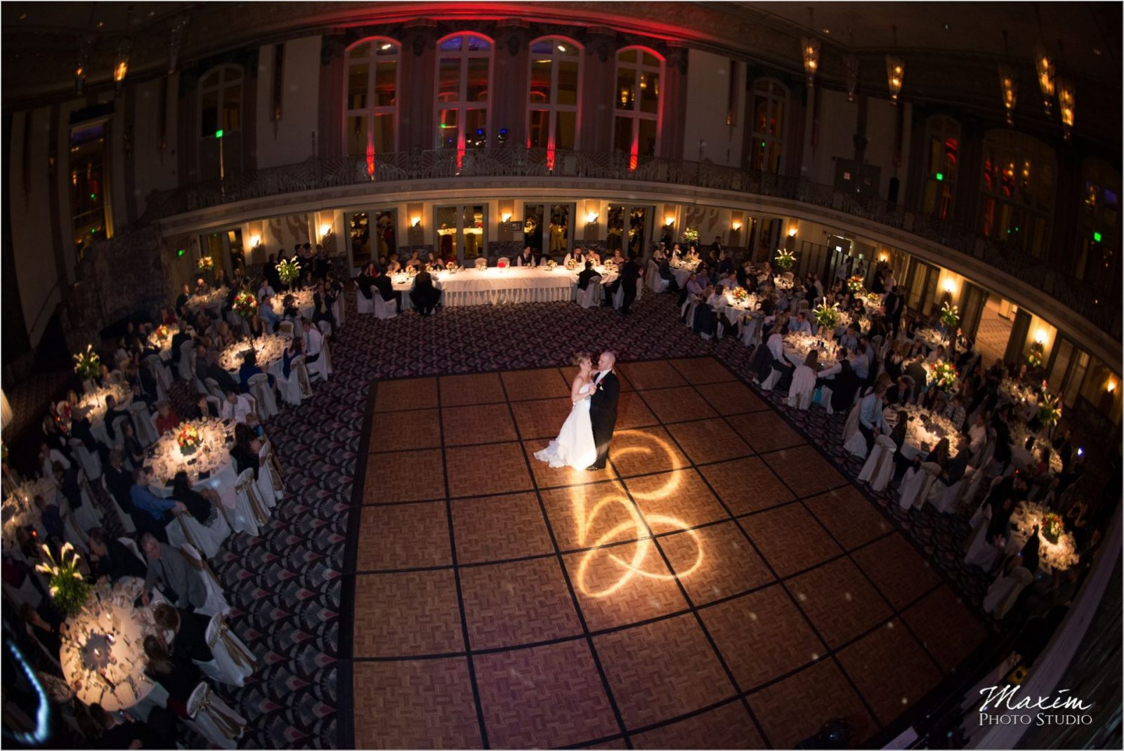 Hilton Netherland Plaza Cincinnati Wedding Reception dance