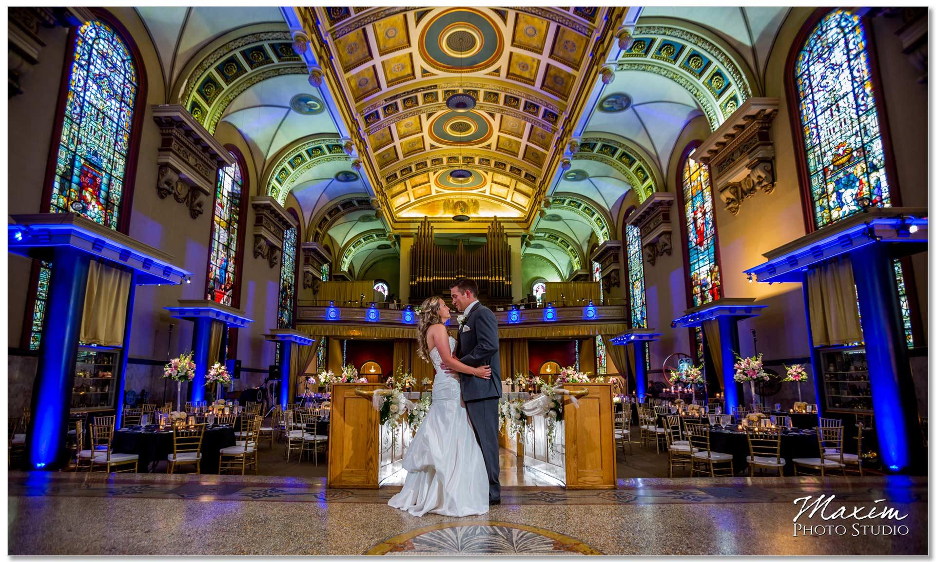 Bell event centre cincinnati wedding purple pictures