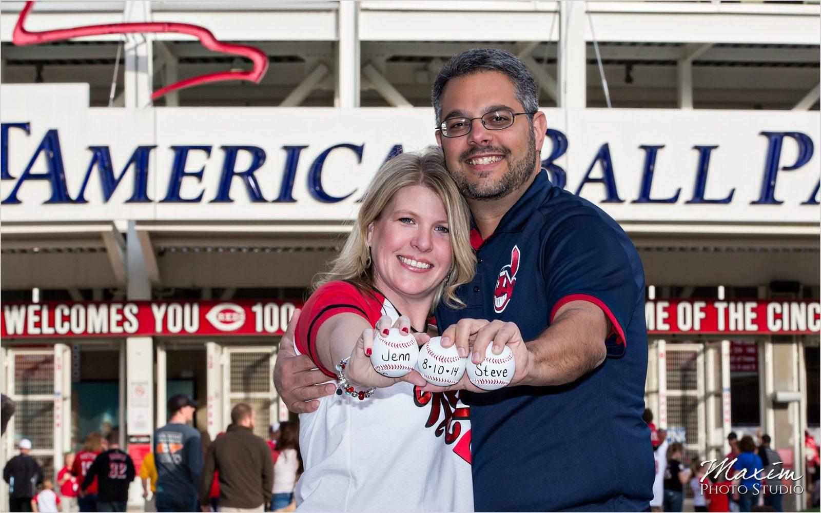 Great American Ballpark Wedding Engagement