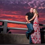 Smale Riverfront Park Cincinnati Ohio Sunset Engagement