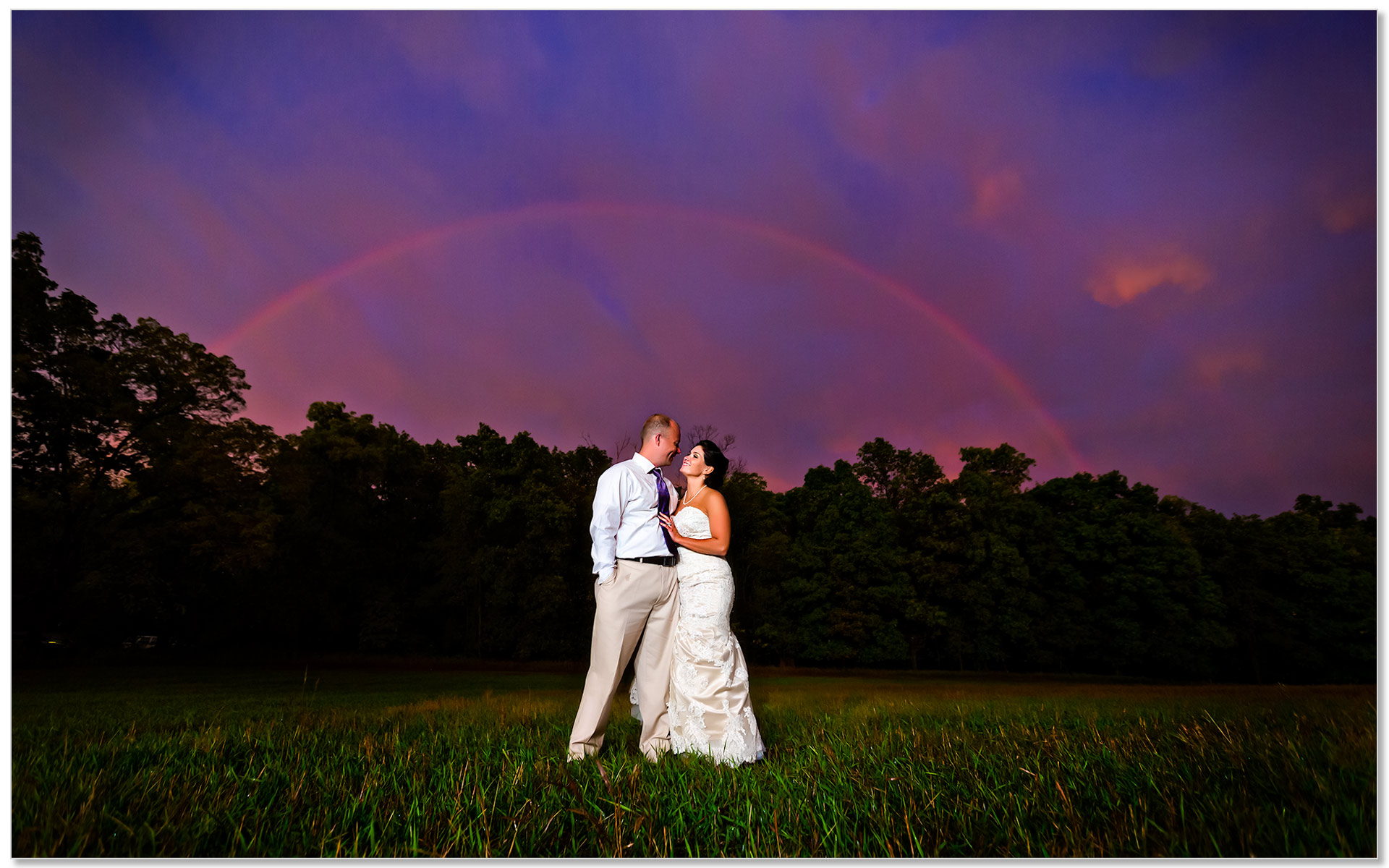 Clear Lake Indiana Wedding rainbow