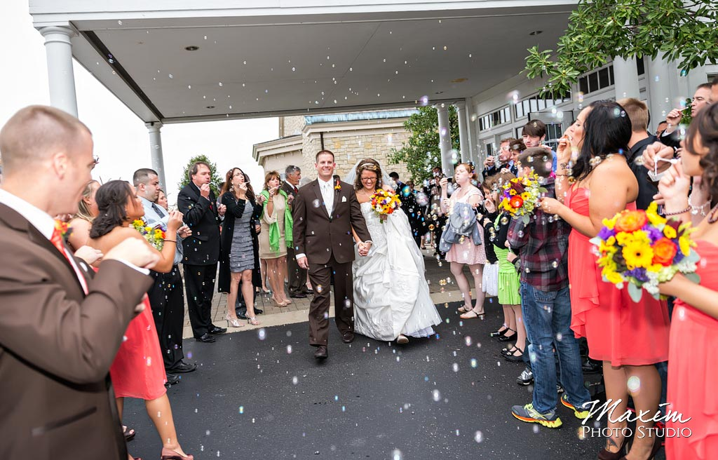 Yankee Trace wedding sparkler exit