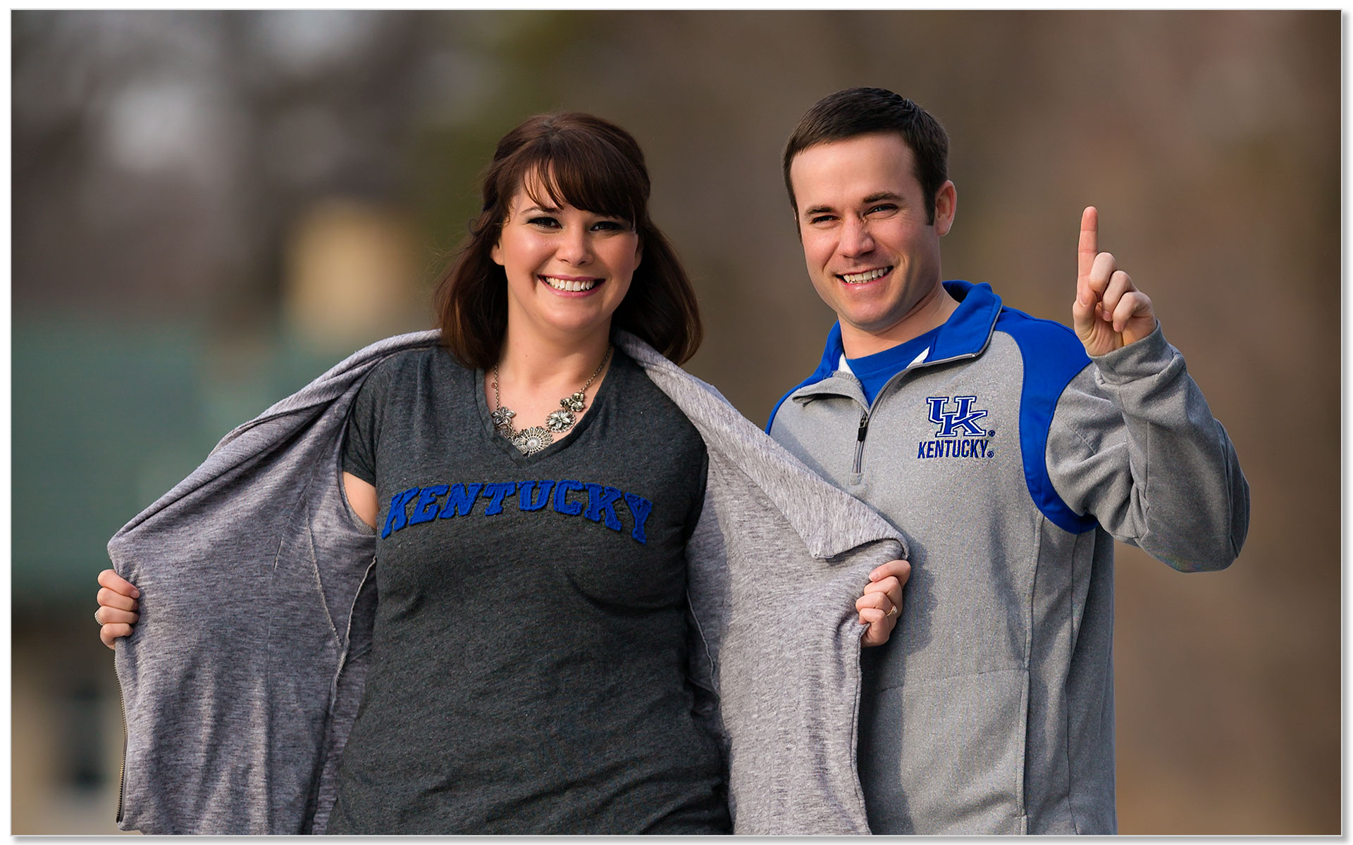 Kentucky Wildcats engagement photo