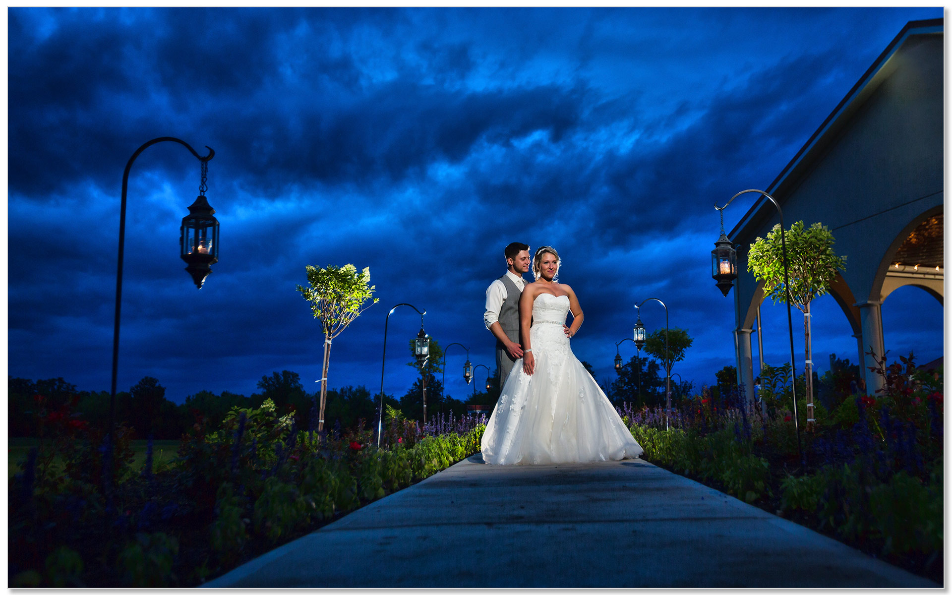 Cedar Springs Pavilion night wedding