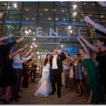 Schuster Center Wedding Dayton Ohio sparklers