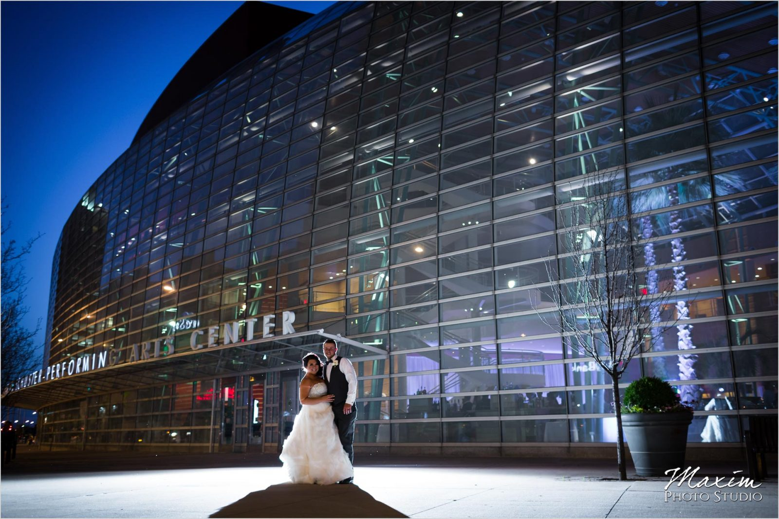Schuster Center Dayton Ohio Wedding Sunset picture