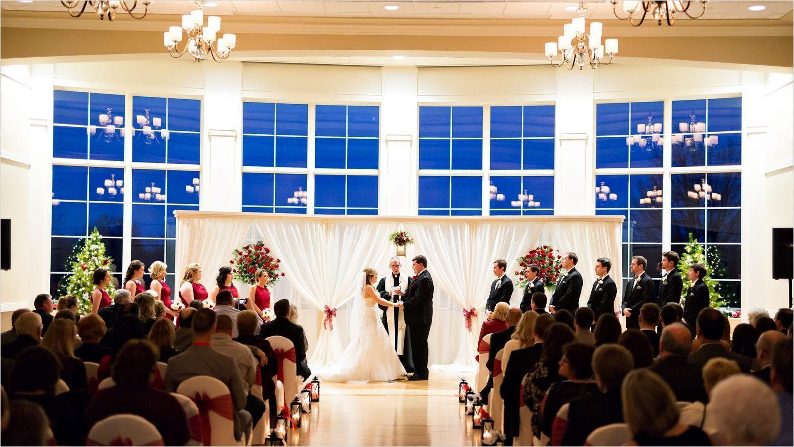 Cooper Creek Event Center Wedding Ceremony Christmas