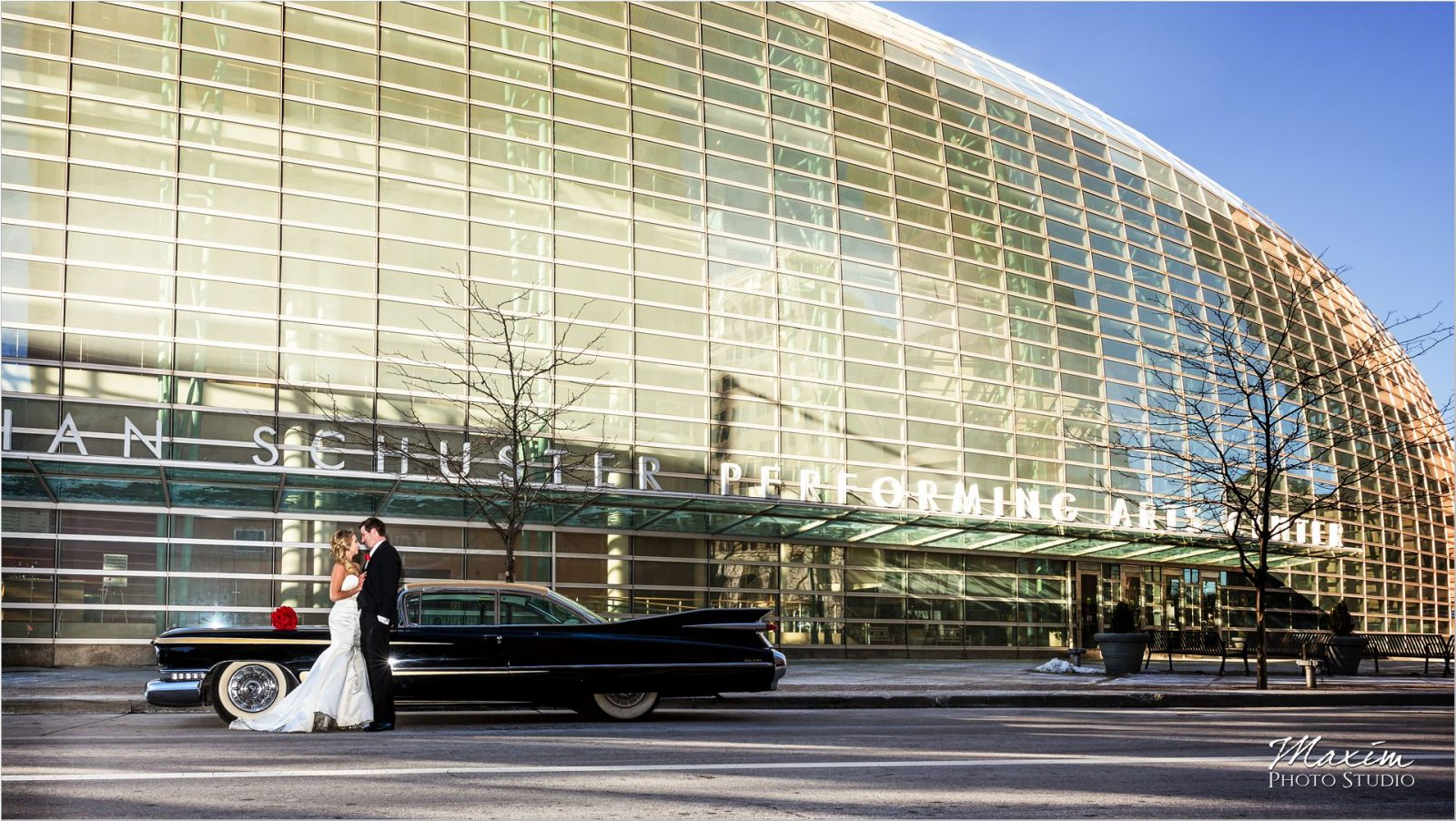 Schuster Center Wedding antique Car