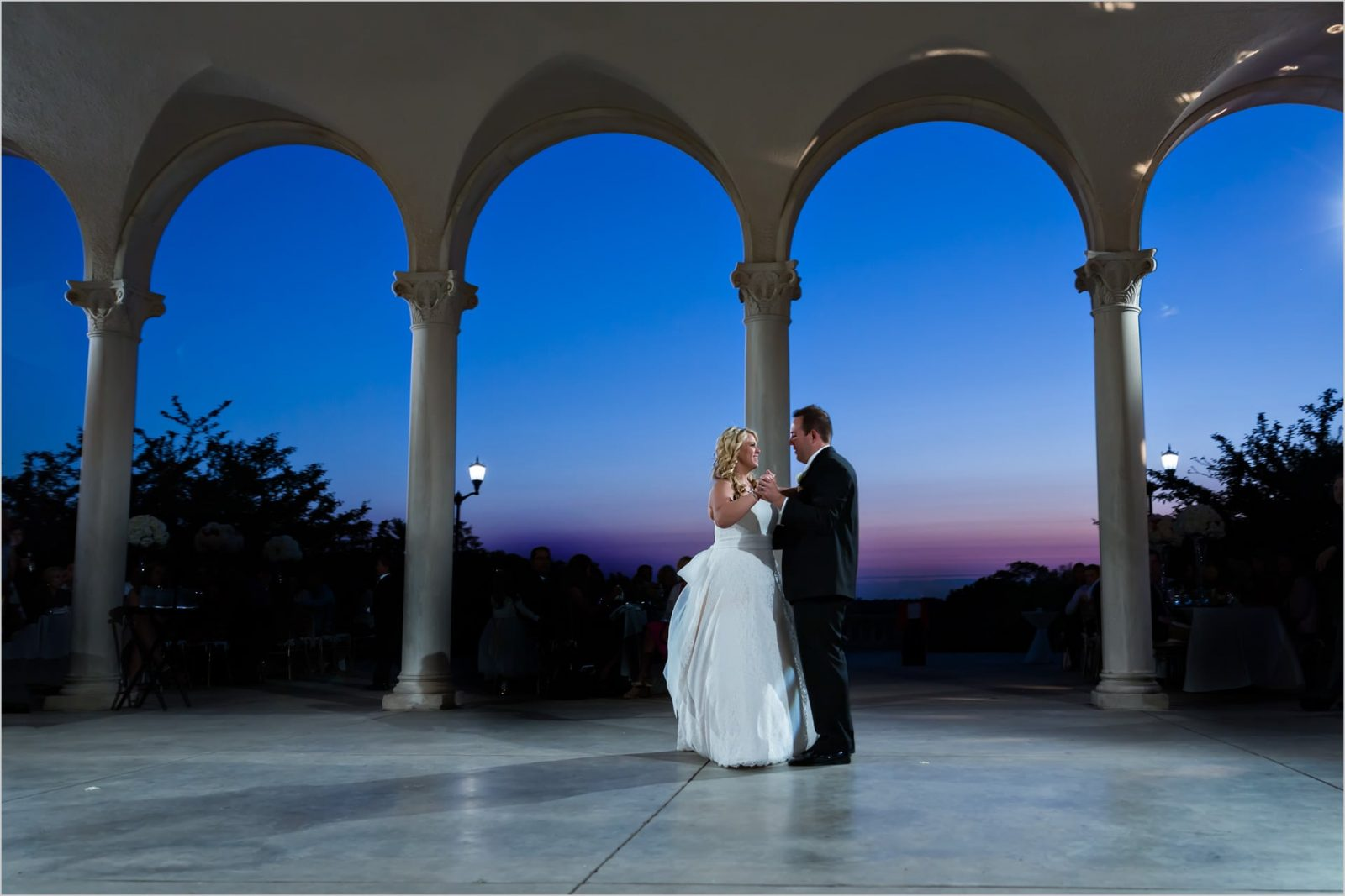 Ault Park Cincinnati wedding photography sunset