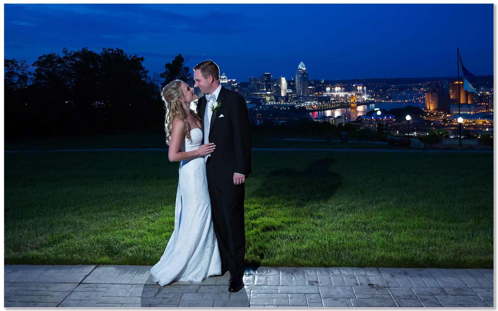 Drees Pavilion Cincinnati skyline