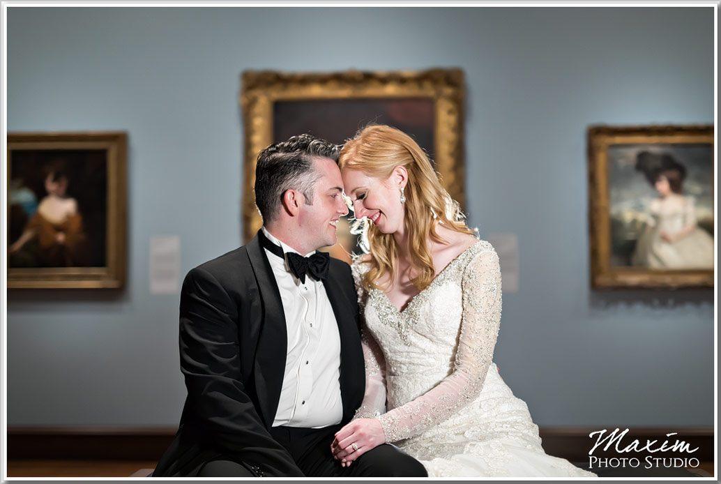 Cincinnati Art Museum Gallery Wedding Portraits