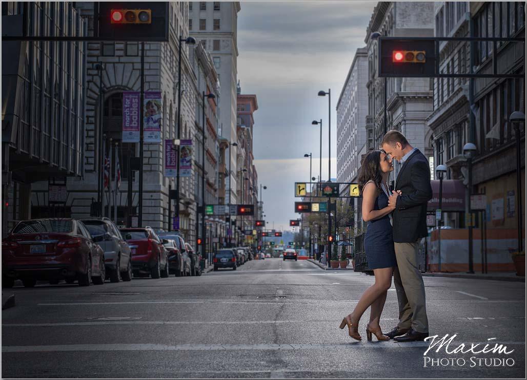 Red light Cincinnati Engagement