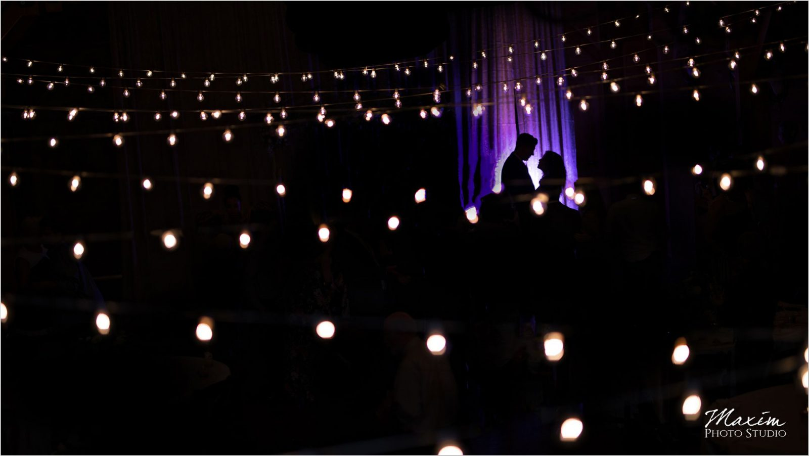 Canopy Creek Dayton Oh wedding Reception bistro lights