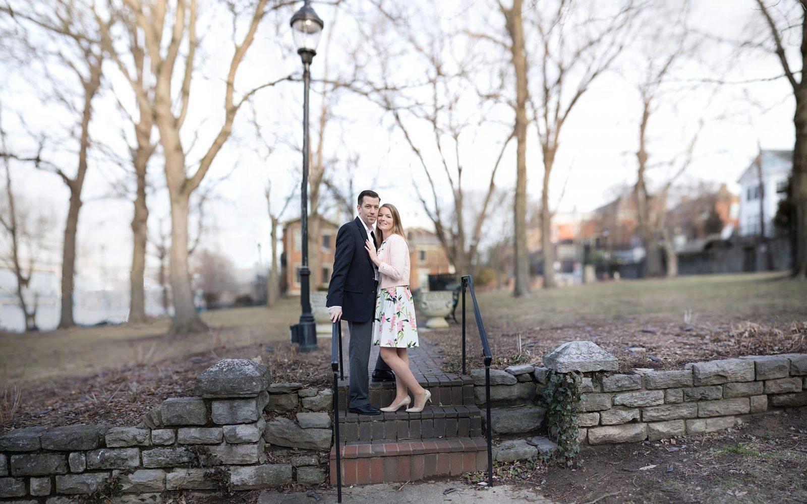George Rodgers Clark Park Kentucky engagement cufflinks