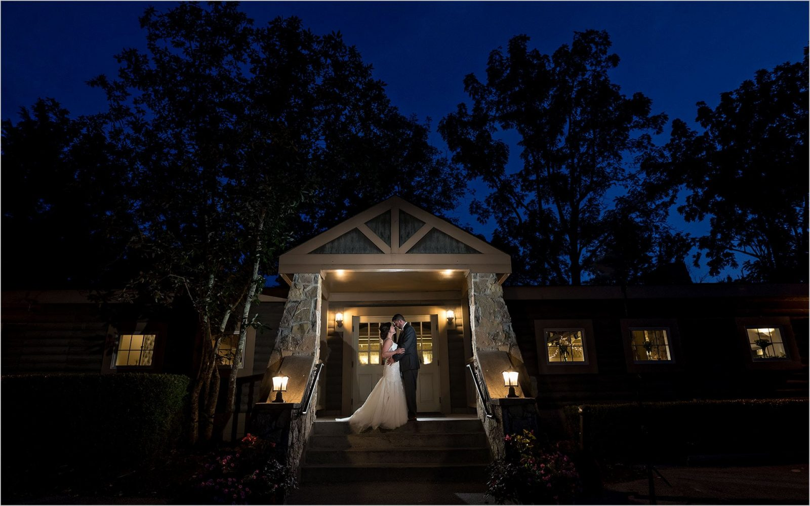 Pattison Park Lodge Wedding Reception night pictures