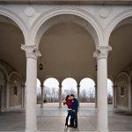 Ault Park Cincinnati Pavillion columns engagement