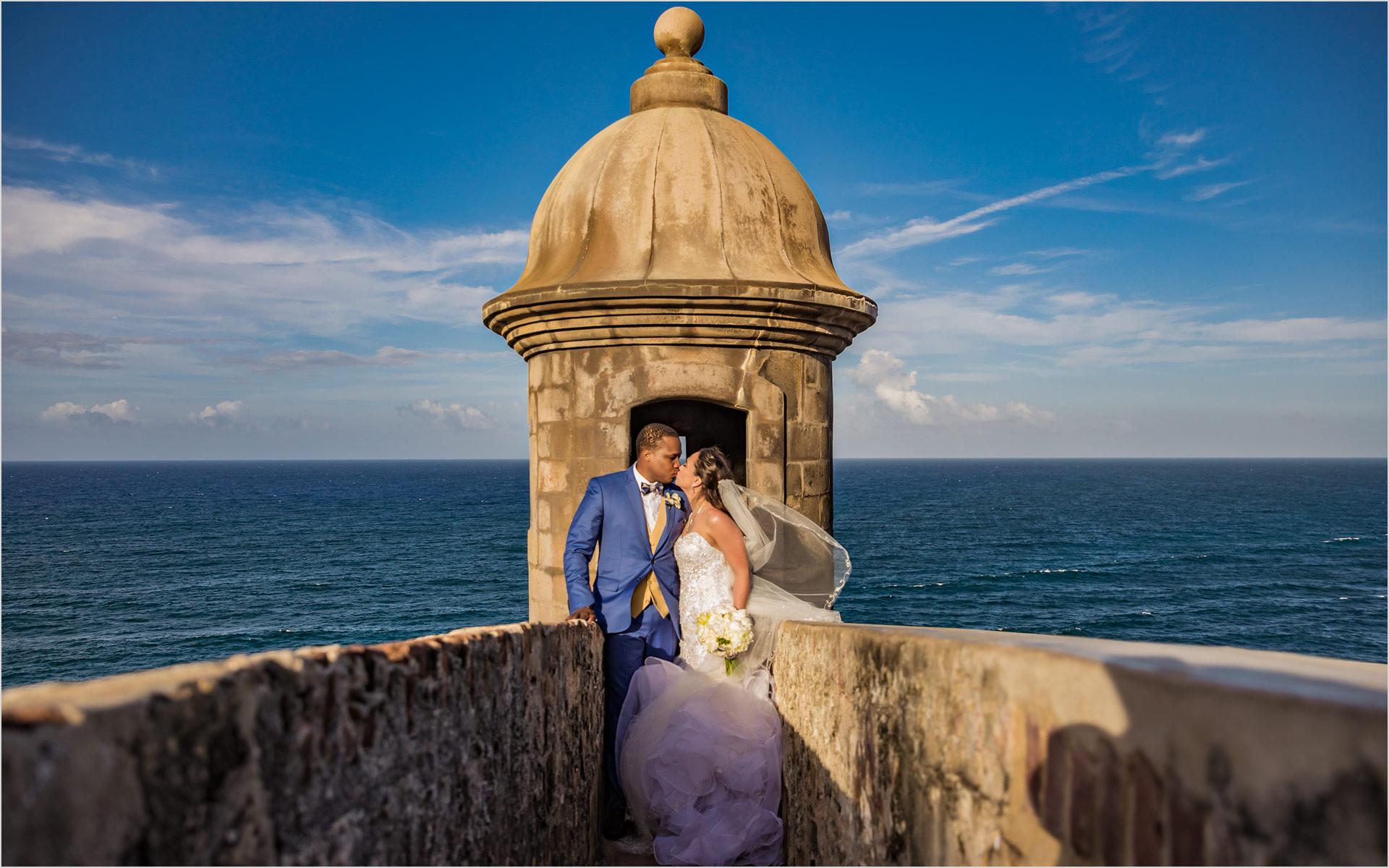 San Juan Puerto Rico Bride Groom Destination Wedding