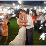Potato Farm Kentucky sparklers wedding