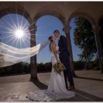 Mt. Echo Park Cincinnati Wedding sun. burst